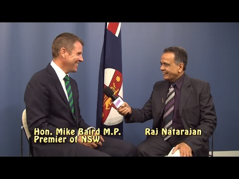 NSW Premier, Hon.Mike Baird talks to Raj of OzIndian TV about his India Trip and Elections