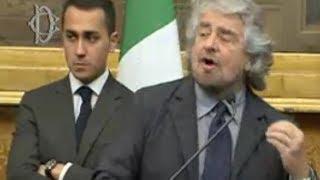 Roma - le consultazioni di matteo renzi. movimento 5 stelle beppe grillo (19.02.14)
