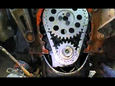 How To Instal A Timing Chain Cover 350 Chevy Youtube