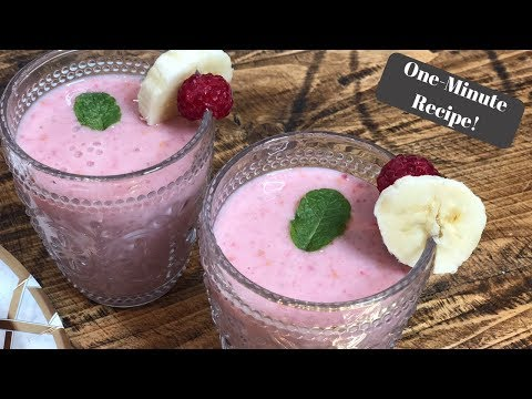 SLIMMING WORLD RASPBERRY AND MINT SMOOTHIE   ONE MINUTE RECIPE