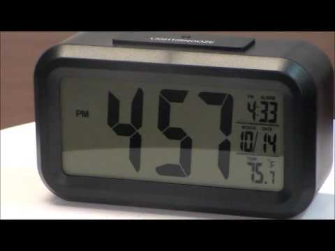 Sonnet T4451 Large Display Lcd Digital Alarm Clock With