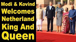 Watch: King of Netherlands gets ceremonial welcome at Rashtrapati Bhavan