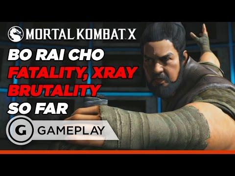 Bo' Rai Cho Fatality, Brutalities, and X-Ray - Mortal Kombat X