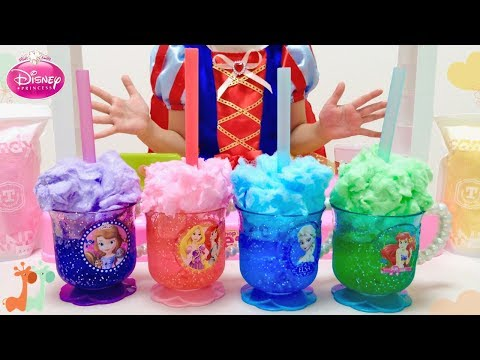 ディズニープリンセス 綿あめソーダ ジュース屋さん / Disney Princess Juice Bar , Cotton Candy Soda : DIY