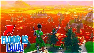 The FLOOR IS LAVA LTM GAMEPLAY in Fortnite Battle Royale!