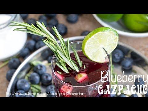 Blueberry Gazpacho Recipe (Vegan)