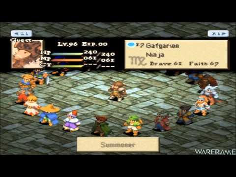 FFT | HOW TO: Get Excalibur & Ragnarok In Chapter 2 From Gafgarion