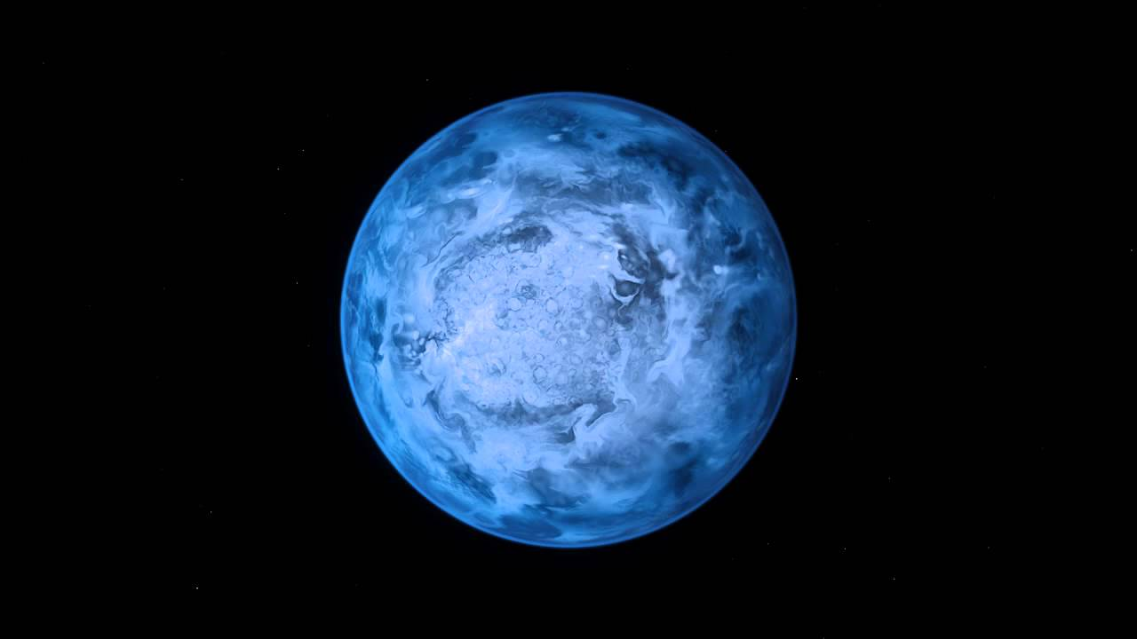 Blue planet HD 189733b around its host star (artist's