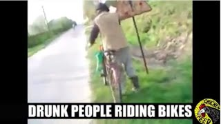 Drunk People Vs Bikes Compilation | Chicken Feed