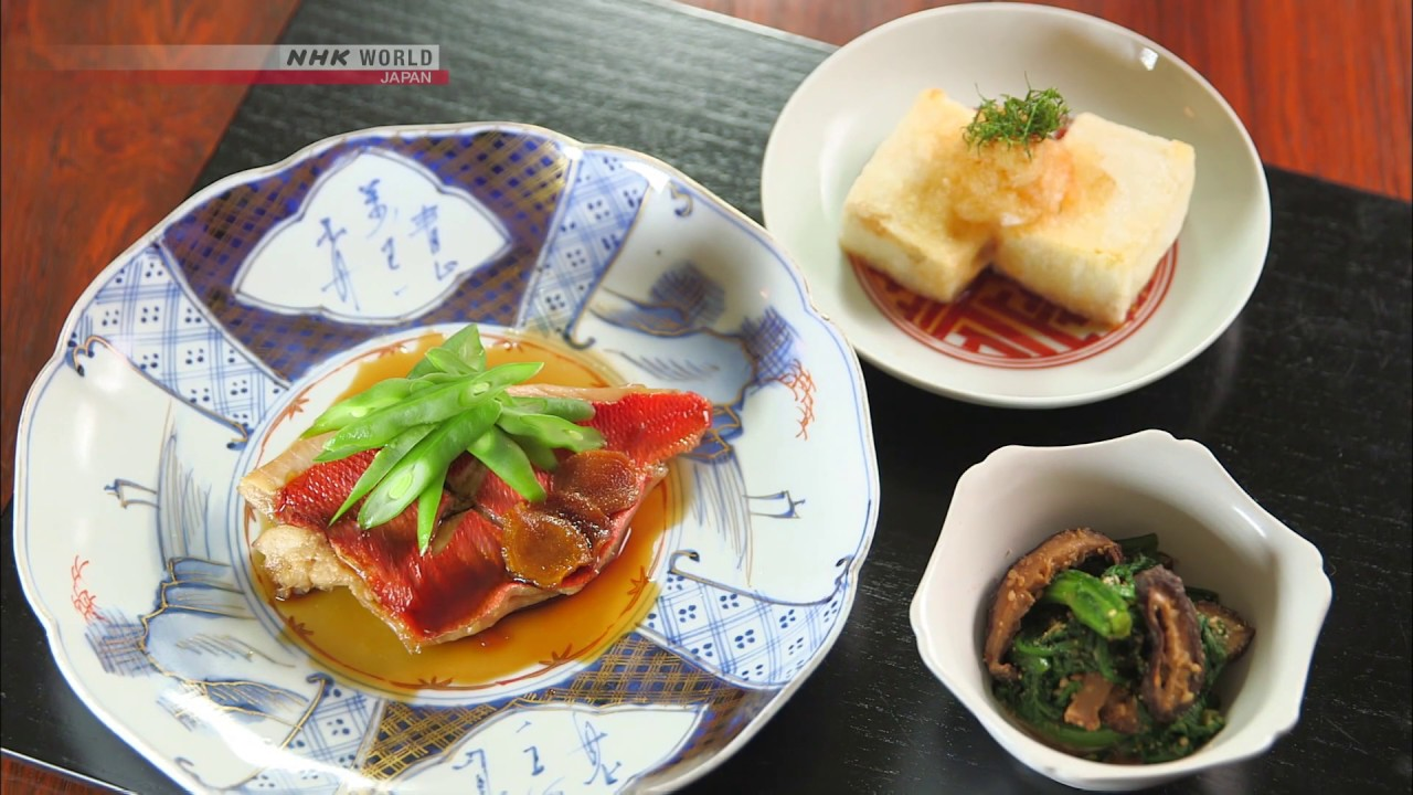 Photo of Chef Rika's Simmered Kinmedai Alfonsino [Japanese Cooking] – Dining with the Chef – video