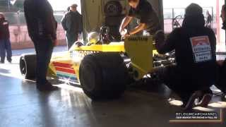 F1 Fittipaldi Copersucar F5A - Start up, Realy loud sounds and Downshifts at Zolder 2013 HD