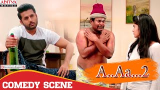 Resort Comedy Scene  | A.AA.. 2 (chalmohan Ranga) Hindi Dubbed Movie | Nithiin, Megha Akash.