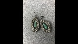 Astra Earrings - Cubic Right Angle Weave Shapes