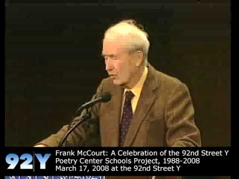 Frank McCourt at 92nd Street Y Poetry Center Schools Project