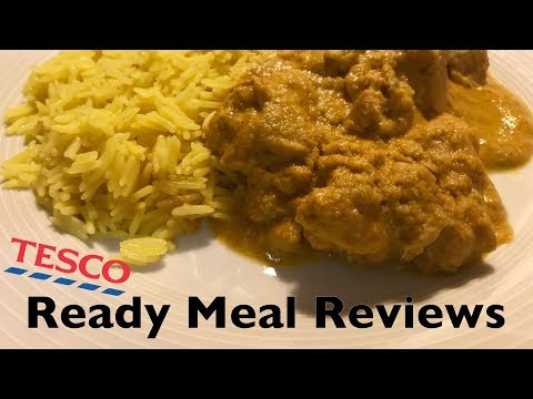 Tesco Indian Chicken Korma Ready Meal Reviews Youtube