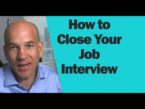 What to say at the end of a job interview.