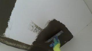 Шпаклюем по Пенопласту внутри помещения. Создаем толщину слоя гребенкой. См16 и Ротбенд.