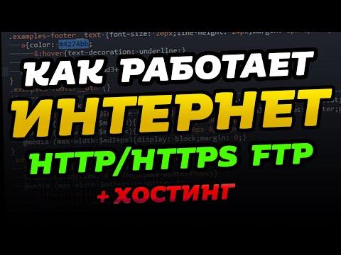 Как работает интернет? Протоколы HTTP/HTTPS, FTP.  Хостинг. Для самых маленьких.