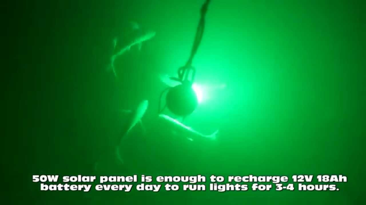 underwater fishing led light solar system - youtube, Reel Combo
