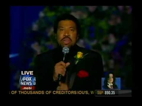 "Lionel Richie ""jesus Is Love"" @ Michael Jackson Memorial"