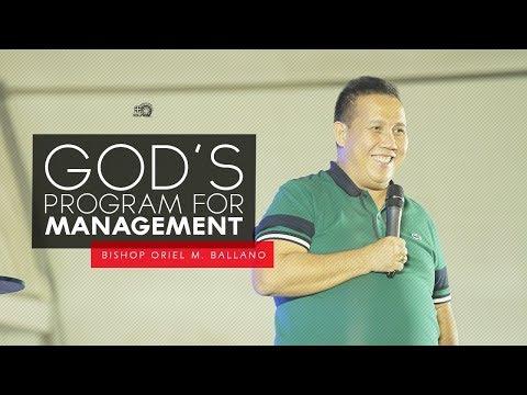 God's Program for Management by Bishop Oriel M. Ballano