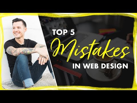 Top 5 Web Design Mistakes | Design Mistakes I Have Made A Lot