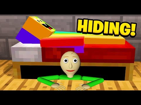 Minecraft: I FOUND BALDI HIDING UNDER MY BED (Ps3/Xbox360/PS4/XboxOne/PE/MCPE)