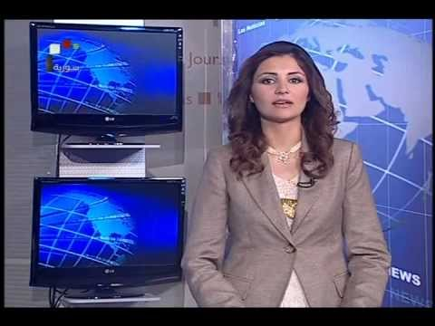 English news on Syria state TV 18 March 2013