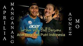 AGNEZ MO Bermain Volly Ball Bersama Aprilia Manganang (Atlet Bola Voli Putri Indonesia)
