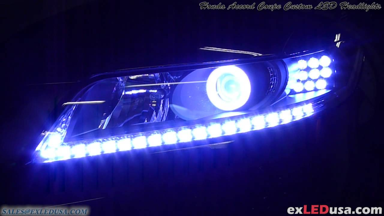 Exledusa honda accord coupe custom led headlights youtube for 2014 honda accord interior lights