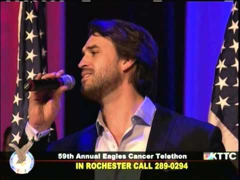 Eagles Cancer Telethon 2013: Ben Utecht - God Bless The USA - Lee Greenwood