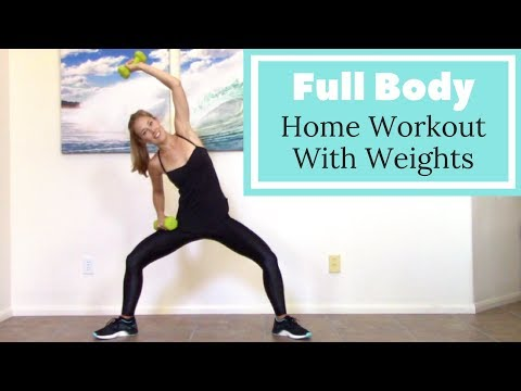 Workout with 5 Pound Weights Home Workout with Dumbbells