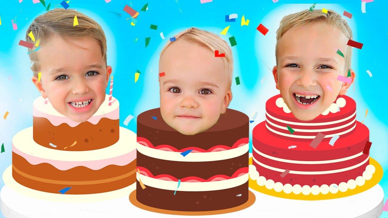 Download Happy Birthday Christian! Second Birthday kids party with Vlad & Niki, Diana & Roma