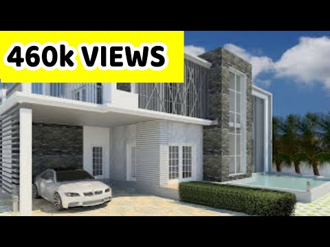 Revit architecture modern house design 8 youtube for Revit architecture house design