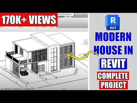 Revit Complete Project 8 Modern House Design In Revit