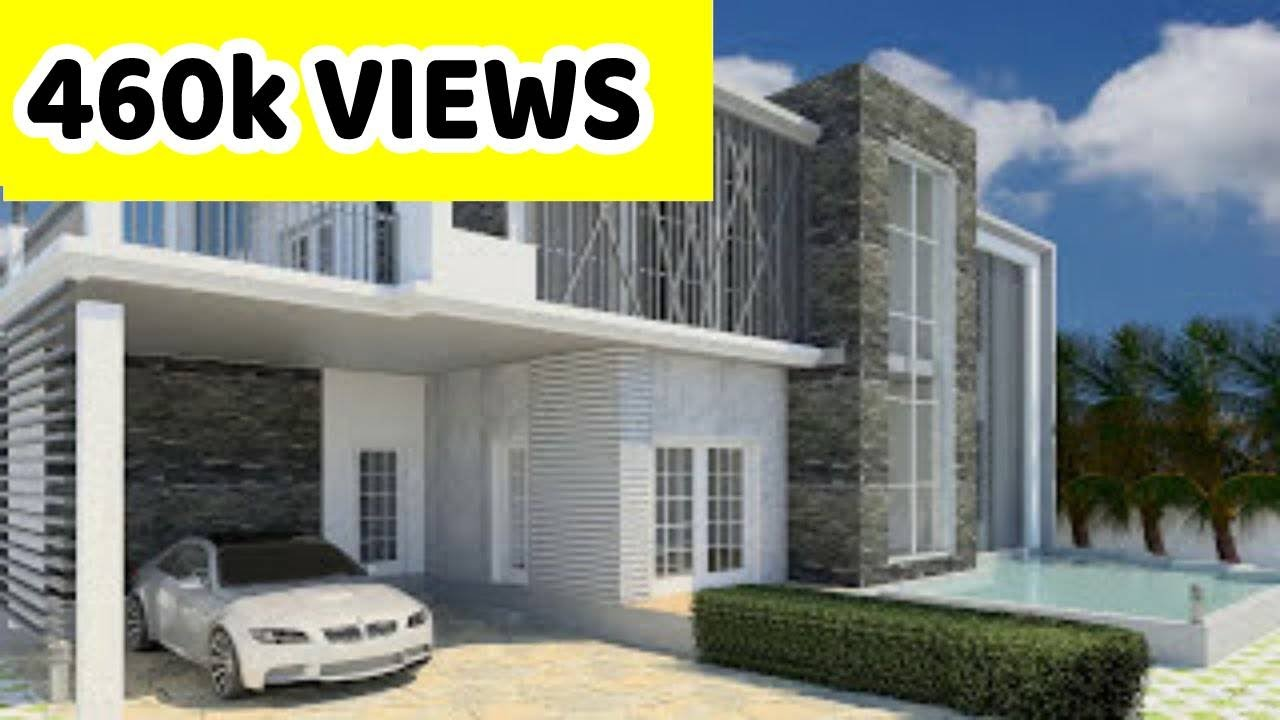 Revit architecture modern house design 8 youtube for Home architecture you tube