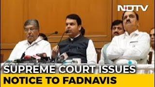 Devendra Fadnavis Gets Top Court Notice For Not Declaring Criminal Cases