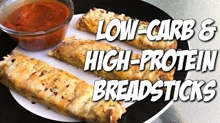 Protein-Packed & Low-Carb Breadsticks for Cutting | 12g Carbs & 16g Protein!