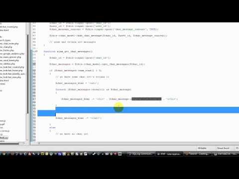 Part 3 - Codeigniter Tutorial - Creating A Web Chat App using JQuery AJAX