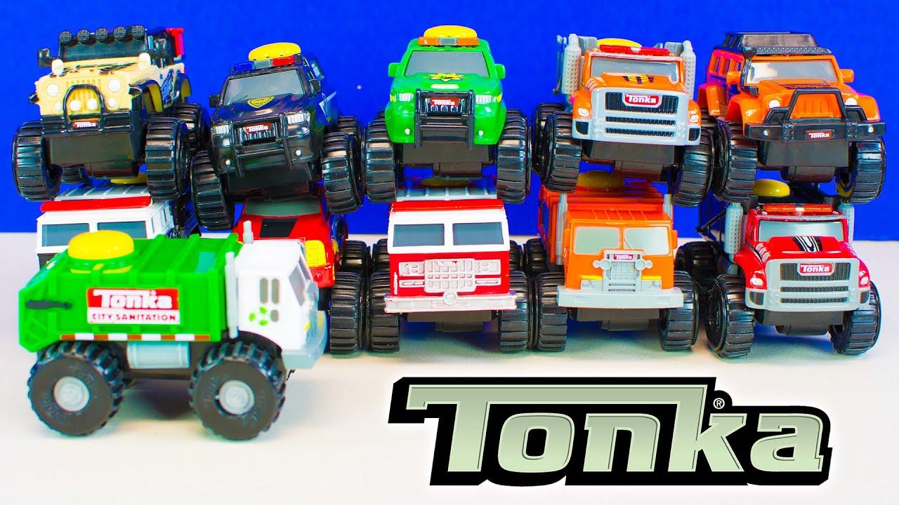 Tonka Toy Trucks >> Tonka Climb-Overs Tonka Toy Trucks for Boys Unboxing Kinder Playtime - YouTube