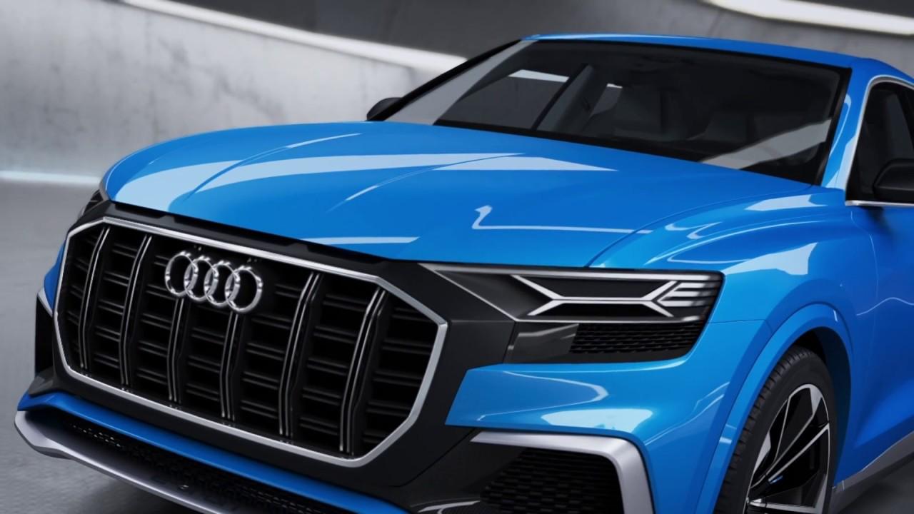 Audi Q8 Concept With E Tron Animation
