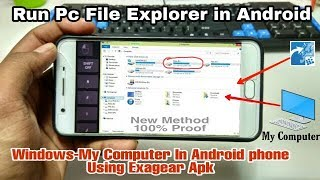Run Pc File Explorer in Android phone Using Exagear strategies   Windows My Computer In Android