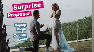 Surprise Proposal Hayley Paige and Conrad Louis Proposal Video (Extended Version - How it went down)