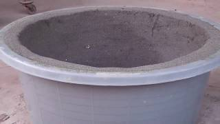 How to make cement pots for plants very easily