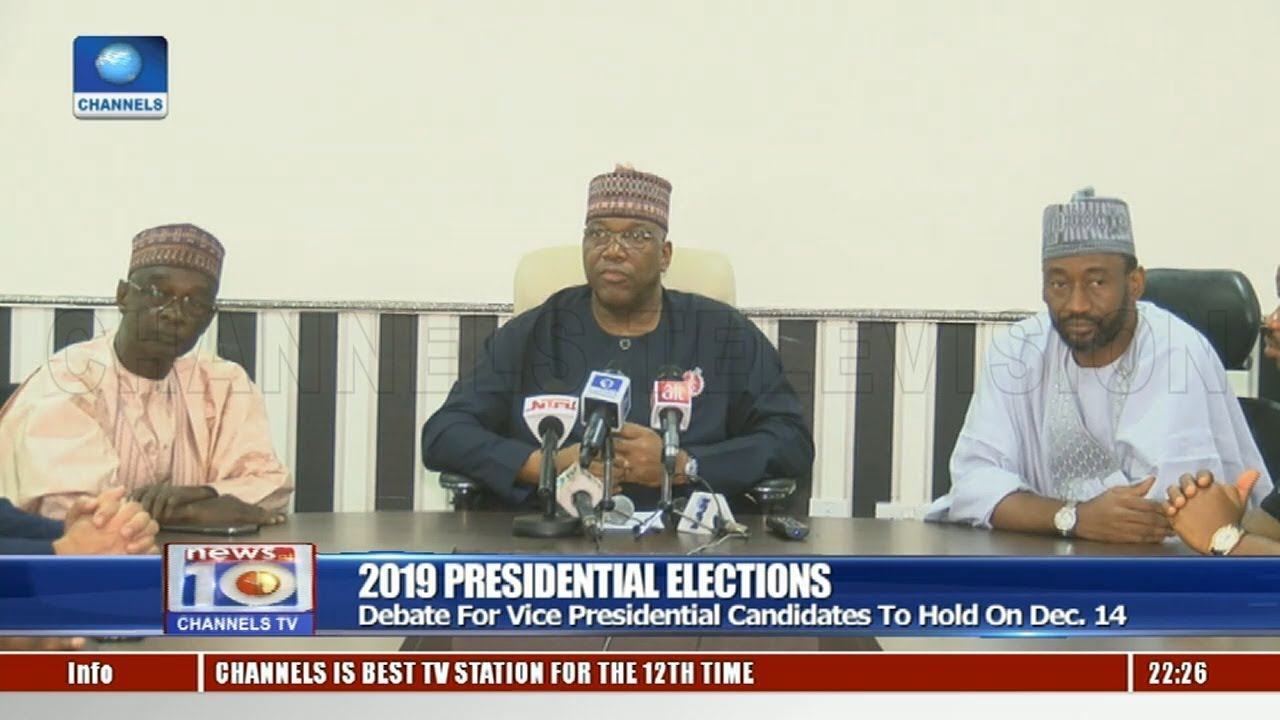NEDG, BON Fix January 19 For Nigeria's 2019 Presidential Election Debate 22/11/18 Pt.2   News@1