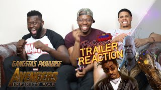 Avengers Infinity War Trailer - Gangta's Paradise Reaction