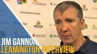 Jim Gannon Post-Match Interview - Leamington FC