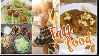 Fit Fall Foods! Pumpkin French Toast, Zoodles & Fall Harvest Salad!