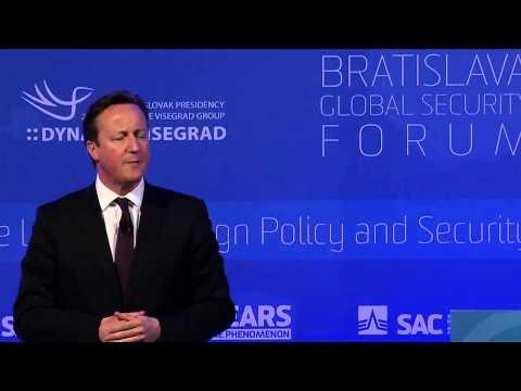 David Cameron on Globsec 2015, Bratislava