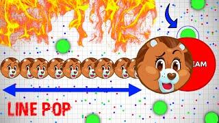 Agar.io - LINEPOP TRICK! #UNCUT W/ ETZESTY!